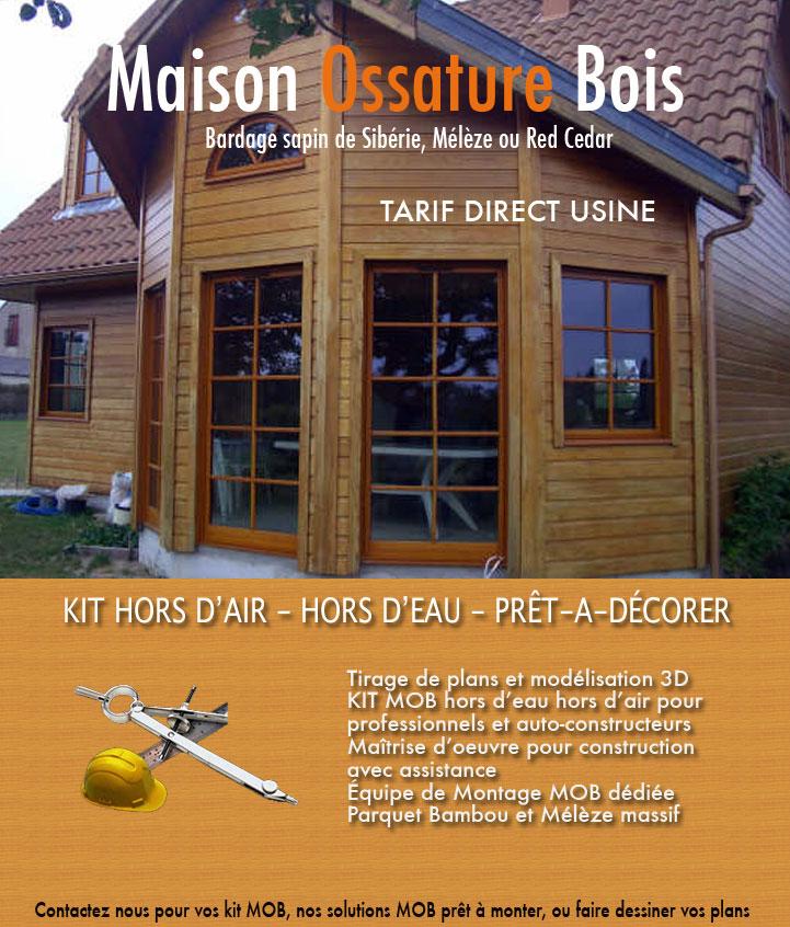 Maison Ossature Bois Kit : nos kits et nos solutions pr?t-?-d?corer de maison ? ossature bois